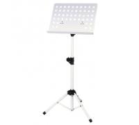 GEWA Orchestral Music Stand White пюпитр оркестровый, подставка для нот с перфорацией, цвет белый