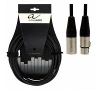 ALPHA AUDIO Pro Line кабель микрофонный XLR (f) - XLR(m) Ningbo Neutric Electronics, длина 9 м.