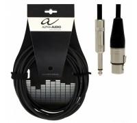 ALPHA AUDIO Pro Line кабель микрофонный XLR(f) - Jack 6,3 (моно). Длина: 6 м.