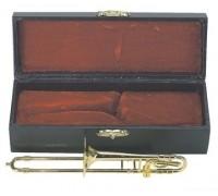 GEWA Miniature Instrument Trombone сувенир тромбон, латунь, 15 см, с футляром