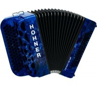 HOHNER Fun Nova II 80 Iight (A7004) dark blue perloid celluloid - кнопочный аккордеон 3/4 гриф B