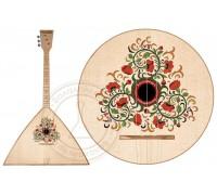 БалалайкерЪ SBF-WF - Балалайка традиционная, трехструнная, уменьшенная, рис - цветы