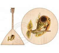 БалалайкерЪ SBF-VF/2 - Балалайка традиционная, трехструнная, уменьшенная, рис - рыбка