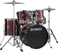 """YAMAHA GM2F51 BURGUNDY GLITTER - часть барабанной установки Gigmaker: бас-барабан 22""""х16"""", напольный том 16""""х16"""", подвесной том 12""""х9"""", держатель для томов"""