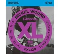 """D'ADDARIO EXL120 - Струны для электрогитары Даддарио"""