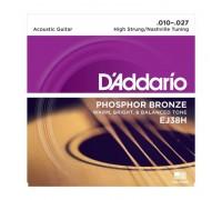 """""""D'ADDARIO EJ38 H - Струны для 12-ти струнной акустической гитары Даддарио"""""""