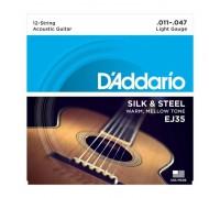"""""""D'ADDARIO EJ35 - Струны для 12-ти струнной акустической гитары Даддарио"""""""