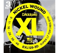 """D'ADDARIO EXL125 3D - Струны для электрогитары Даддарио"""