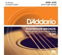 """""""D'ADDARIO EJ41 - Струны для 12-ти струнной акустической гитары Даддарио"""""""
