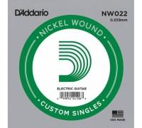 """D'ADDARIO NW022 - Одиночная струна для электрогитары Даддарио"""