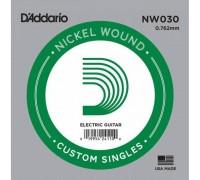 """D'ADDARIO NW030 - Одиночная струна для электрогитары Даддарио"""