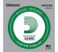 """D'ADDARIO NW038 - Одиночная струна для электрогитары Даддарио"""