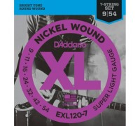 """D'ADDARIO EXL120 7 - Струны для электрогитары Даддарио"""