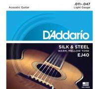 """""""D'ADDARIO EJ40 - Струны для фолк гитары Даддарио"""""""