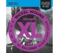 """D'ADDARIO EXL120 BT - Струны для электрогитары Даддарио"""