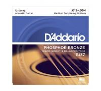 """""""D'ADDARIO EJ37 - Струны для 12-ти струнной акустической гитары Даддарио"""""""