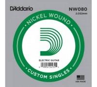 """D'ADDARIO NW080 - Одиночная струна для электрогитары Даддарио"""
