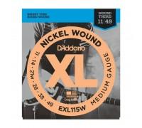 """D'ADDARIO EXL115W - Струны для электрогитары Даддарио"""